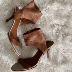 Vince Tan Leather Ankle Wrap Strap Women's Size 10
